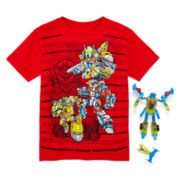 Graphic Tee with Toy Robot - Preschool Boys 4-7