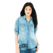 Joe Fresh™ Long-Sleeve Chambray Boyfriend Top