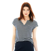 Joe Fresh™ Sleeveless Striped T-Shirt