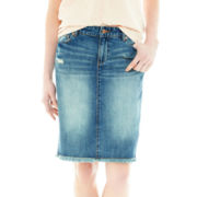 Joe Fresh™ Fray-Hem Denim Skirt