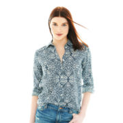 Joe Fresh™ Long-Sleeve Paisley Print Blouse