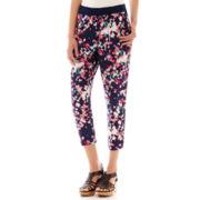 a.n.a® Print Woven Soft Pants - Petite