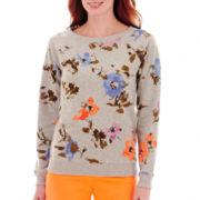St. John's Bay® Print Sweatshirt