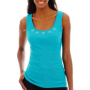 St. John's Bay® Embellished Tank Top