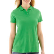 St. John's Bay® Short-Sleeve Polo Shirt - Petite
