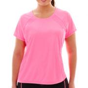 Xersion™ Mesh Pieced T-Shirt - Plus