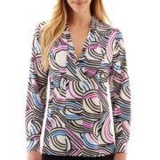 Worthington® Long-Sleeve V-Neck Tunic Blouse - Tall