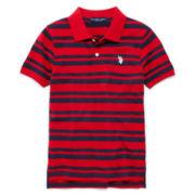 U.S. Polo Assn.® Short-Sleeve Striped Piqué Polo - Boys 8-18