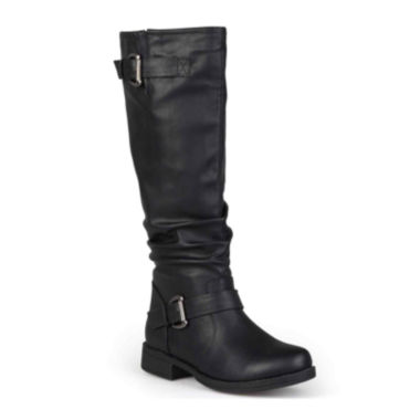 jcpenney.com | Journee Collection Stormy Buckle-Accented Riding Boots
