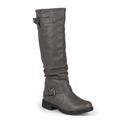 Journee Collection Stormy Buckle-Accented Riding Boots