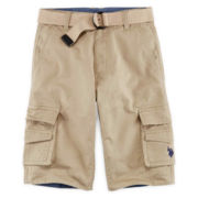 U.S. Polo Assn.® Belted Twill Cargo Shorts - Boys 8-18