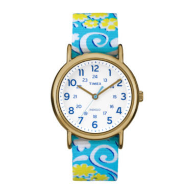 jcpenney.com | Timex® Womens Weekender Blue and White Floral Strap Watch