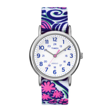 jcpenney.com | Timex® Womens Weekender Blue Swirl Reversible Strap Watch