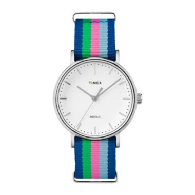 jcpenney.com | Timex® Womens Weekender Blue Striped Strap Watch