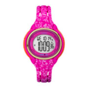 Timex® Womens Sleek Hot Pink Floral 50 Lap Strap Watch