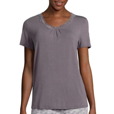 jcpenney.com | Ambrielle® Knit Short-Sleeve Sleep Tee