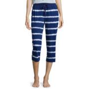 Sleep Chic® Print Capri Pajama Pants