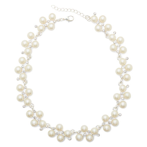 Vieste® Short Crystal Collar Necklace