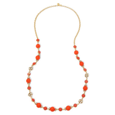 jcpenney.com | Monet® White and Gold-Tone Station Necklace