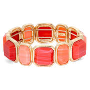 Monet® Orange Tone Gold-Tone Stretch Bracelet