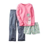 Carter's® 3-pc. Pajama Set - Preschool Girls 4-7