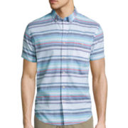 Arizona Short-Sleeve Stripe Woven Shirt
