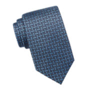 Stafford® Dawson Basketweave Silk Tie - Extra Long
