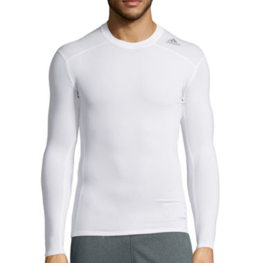 jcpenney.com | adidas® Techfit Long-Sleeve Compression Shirt