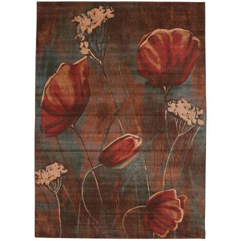Nourison® Floral Fields Rectangular Rug