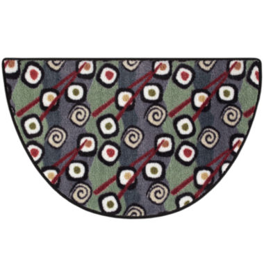 jcpenney.com | Keep Calm Sushi Wedge Accent Rug