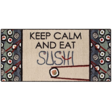 jcpenney.com | Keep Calm Sushi Rectangular Rug