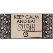 Keep Calm Sushi Rectangular Rug