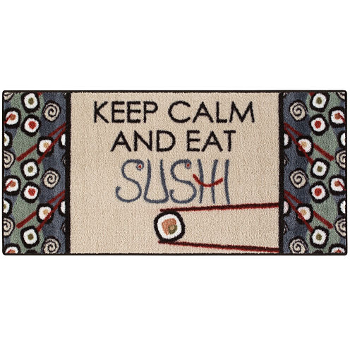 Keep Calm Sushi Rectangular Rug