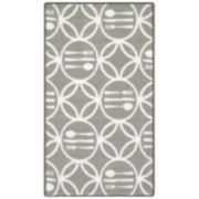 Cutlery Modern Indoor Rectangular Rug