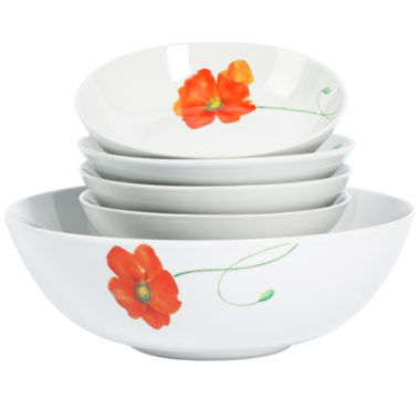 jcpenney.com | Tabletops Gallery® Poppy 5-pc. Pasta Set