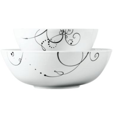 jcpenney.com | Tabletops Gallery® Pescara 2-pc. Porcelain Serving Bowl Set