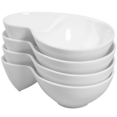 jcpenney.com | Denmark® Set of 4 Double-Dip Porcelain Chip and Dip Server