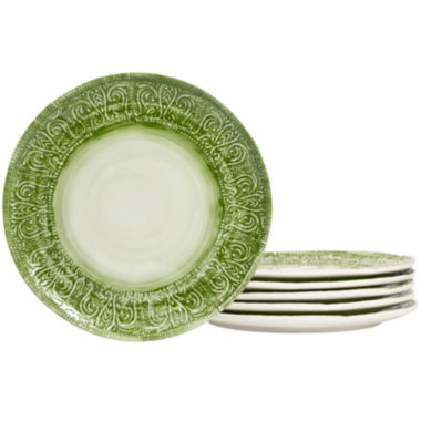 jcpenney.com | Tabletops Gallery® Set of 6 Round Dinner Plates