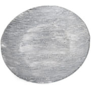 Silver Metallic Set of 4 Glass Dessert Plates