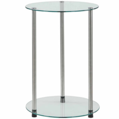 jcpenney.com | Donovan 2-Tier Round Glass End Table