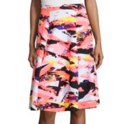 BELLE + SKY™ Print Circle Scuba Skirt