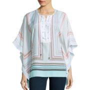 Bisou Bisou® Short-Sleeve Kaftan Blouse