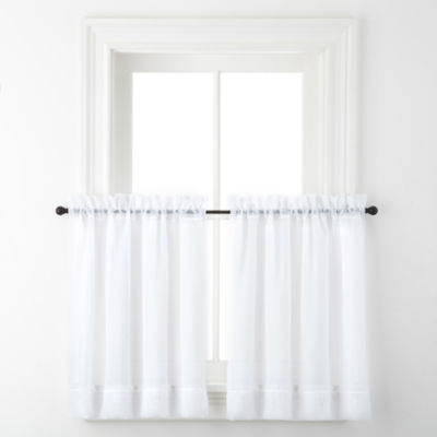 Liz Claiborne® Lisette Rod-Pocket Sheer Window Tiers