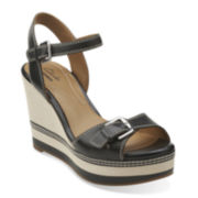 Clarks® Zia Castle Wedge Sandals