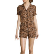Pillow Talk Short-Sleeve Shirt and Shorts Pajama Set