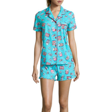 jcpenney.com | Pillow Talk Short-Sleeve Shirt and Shorts Pajama Set