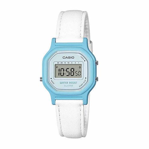 Casio Womens White Strap Watch-La11wl-2a