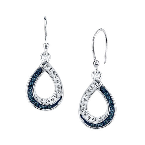 Sparkle Allure Blue Drop Earrings