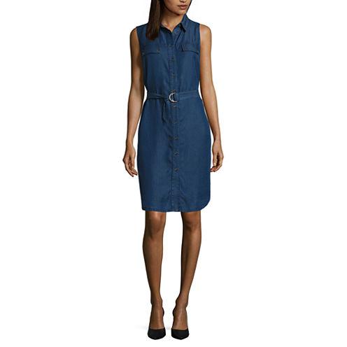 Ronni Nicole Sleeveless Shirt Dress