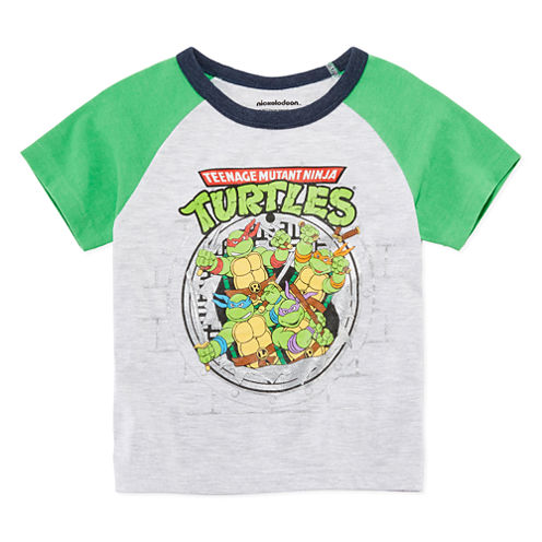 Short Sleeve Crew Neck T-Shirt-Toddler Boys